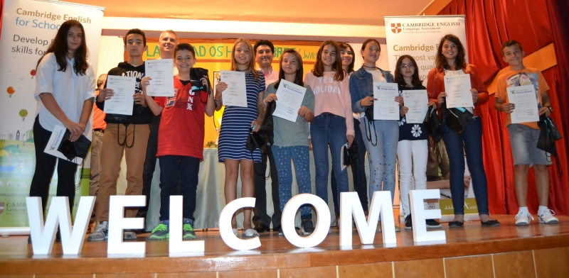 Entrega de Certificados en el Colegio Las Viñas de Teruel: resultados Exámenes Cambridge