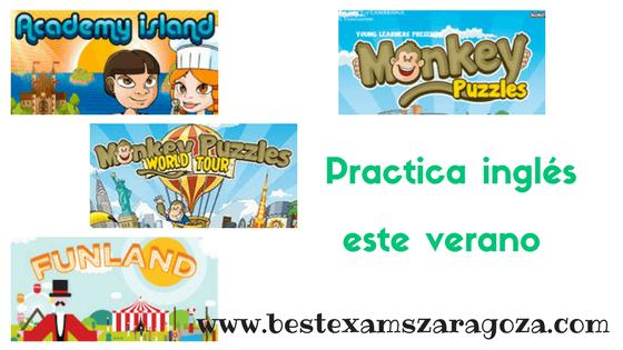 Juegos para practicar inglés en verano