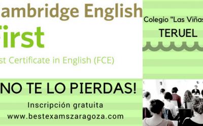 Seminario para profesores: Preparing for Cambridge English/First – Writing and Speaking